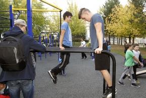 Nové workoutové a parkurové hřiště.