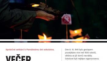 VEČER SOKOLSKÝCH SVĚTEL - PAMÁTNÝ DEN SOKOLSTVA 8.10.