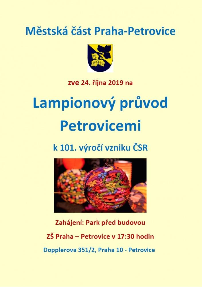 Lampionový průvod Petrovicemi